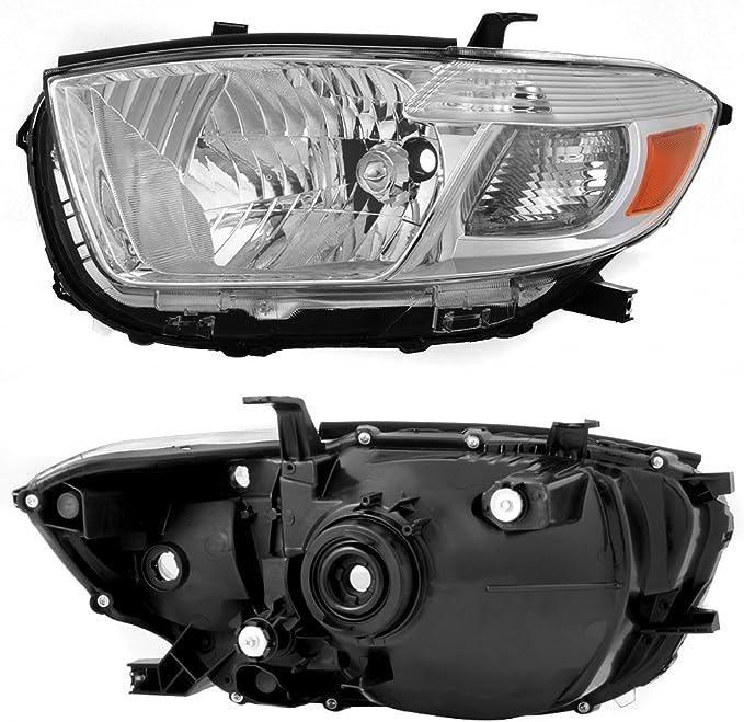 Right Headlights Headlamps New SET 2008 2009 2010 Toyota Highlander Left