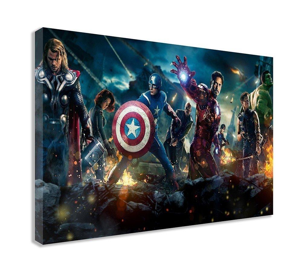 Marvel The Avengersキャンバス壁アート 44