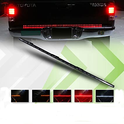 Brake light strip for pickup trucks