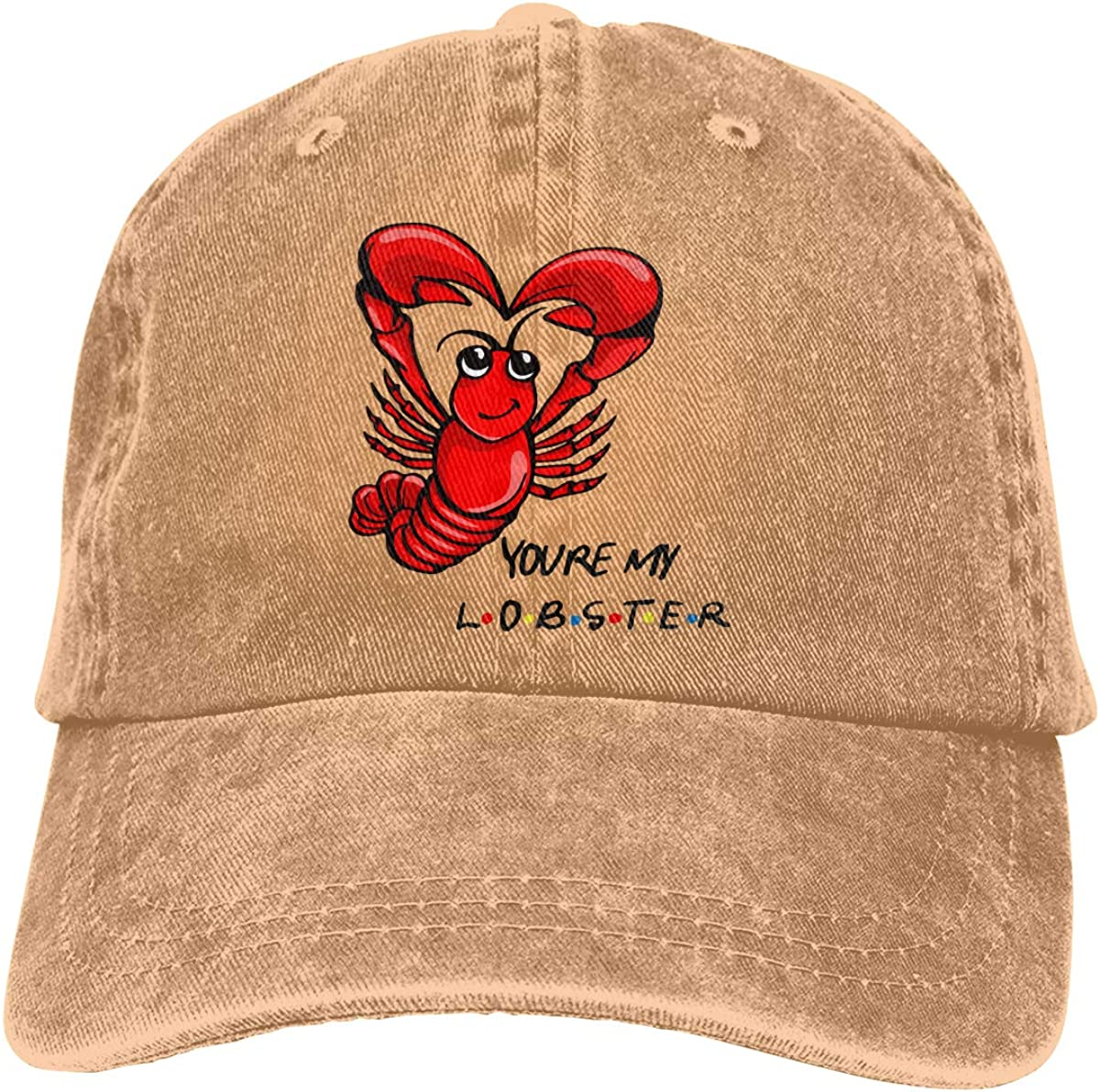 TBVS 77 Men Women Adjustable Cotton Denim Baseball Cap Youre My Lobster Hiphop Cap