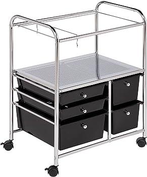 Honey Can Do 5-Drawer Hanging File Cart