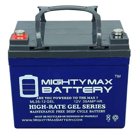 12 V 35 Ah Gel batería de repuesto para Hustler 53330 cortacésped ...