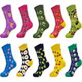 Jeasona Womens Cute Crew Socks Cotton Funny Fun Crazy Novelty Cool Gifts