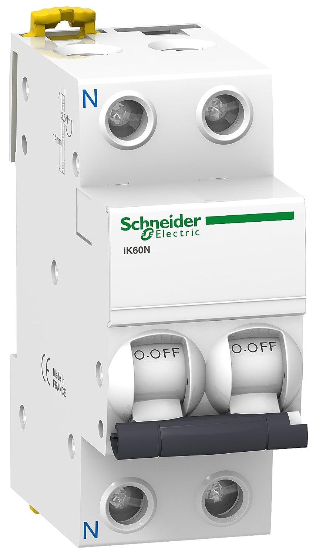 Schneider Electric A9K17616 Interruptor Automático Magnetotérmico, Ik60N, 1P+N, 16 A, Curva C