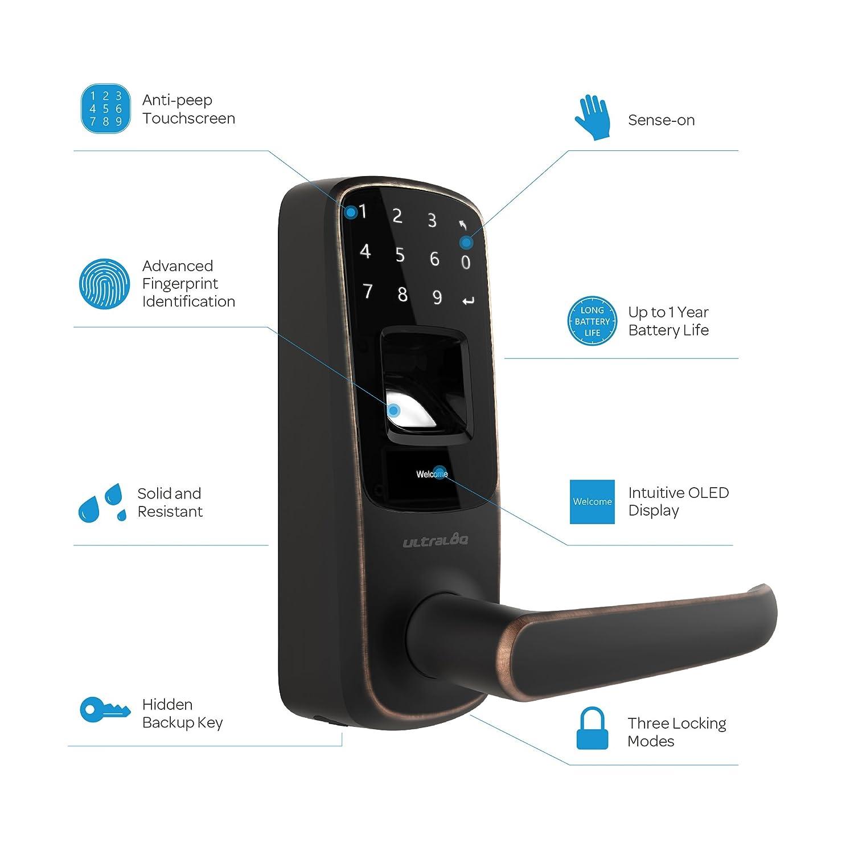 Ultraloq UL3/BT impronte digitali e touchscreen abilitati Bluetooth Smart Lock