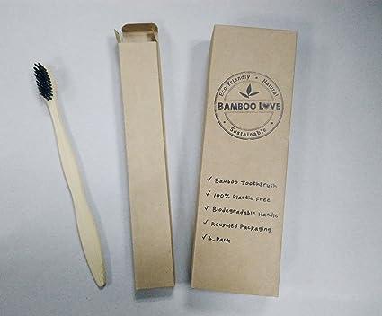 Cepillo de dientes de bambú natural, cuidado dental para toda la familia, paquete de
