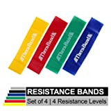 TheraBand Resistance Band Loop Set, Pack of 4, 12