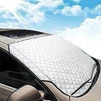 Autoscheibenabdeckung Frontscheibenabdeckung MATCC Sonnenschutz Scheibenabdeckung Auto Windschutzscheibe UV-Schutz Scheibenschutz Hitzeschutz Sonnenblende Windschutzscheibe (146x102cm)