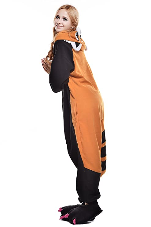 Amazon.com: Halloween Unisex Adult Cosplay Pajamas OnePiece Pyjamas Raccoon Costume: Clothing