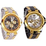 Maan International Analogue Multicolor Dial Men's Analogue Combo Of 2 Watch - Combo-S.B.R.