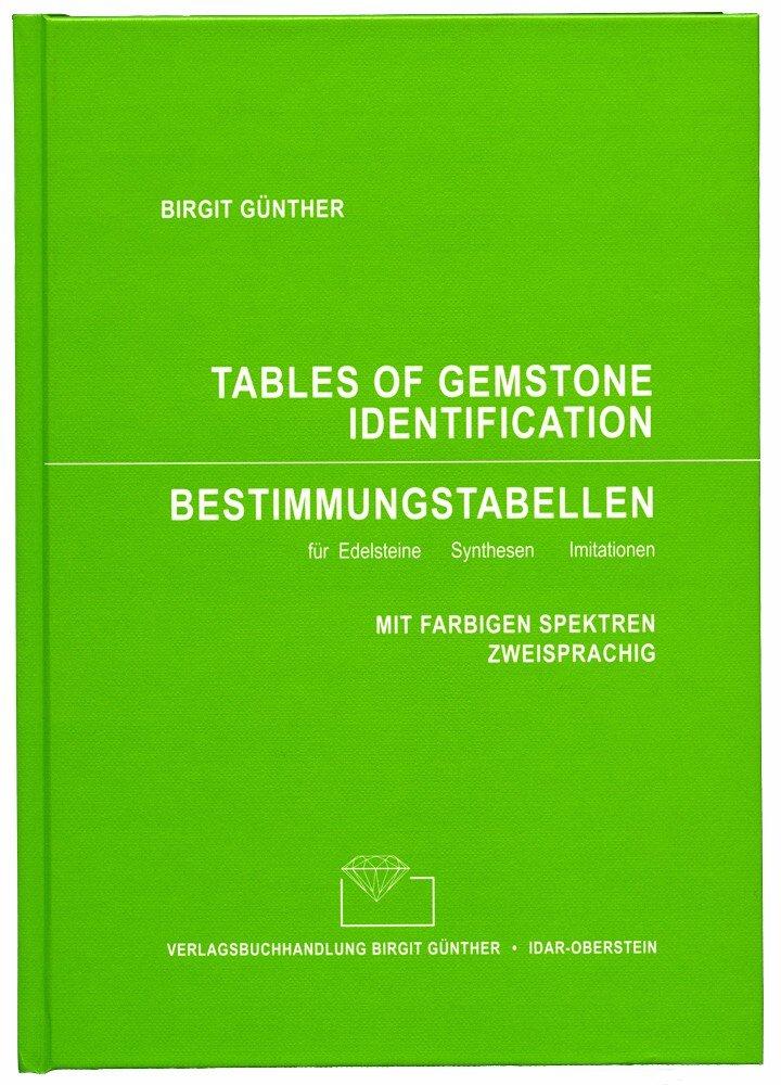 Bestimmungstabellen für Edelsteine - Synthesen-Imitationen / Tables of Gemstone Identification