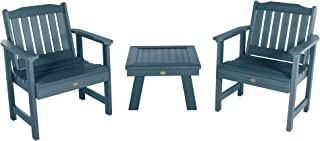 product image for highwood AD-KITCHGL2-NBE Lehigh 2 Garden Chairs with 1 Square Side Table, 3-Piece Set, Nantucket Blue