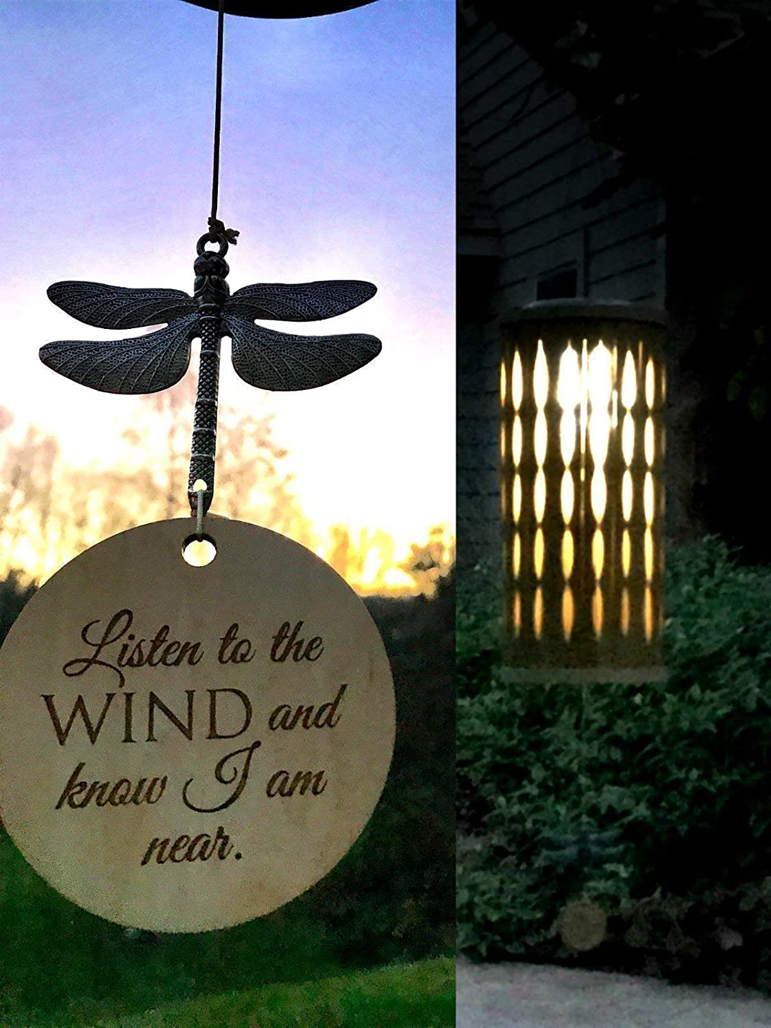 SALE 26 inch Customized Memorial Wind Chime SOLAR in Memory of Adult or Child Eternal light Memorial Heaven day remembering mom death of mother or father Bamboo Woodstock Chime