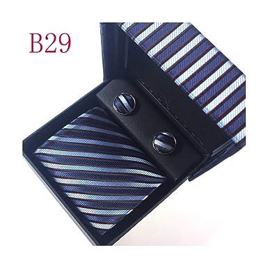 Pragmaticv Fiesta de boda para hombre corbata corbata conjunto 8 ...