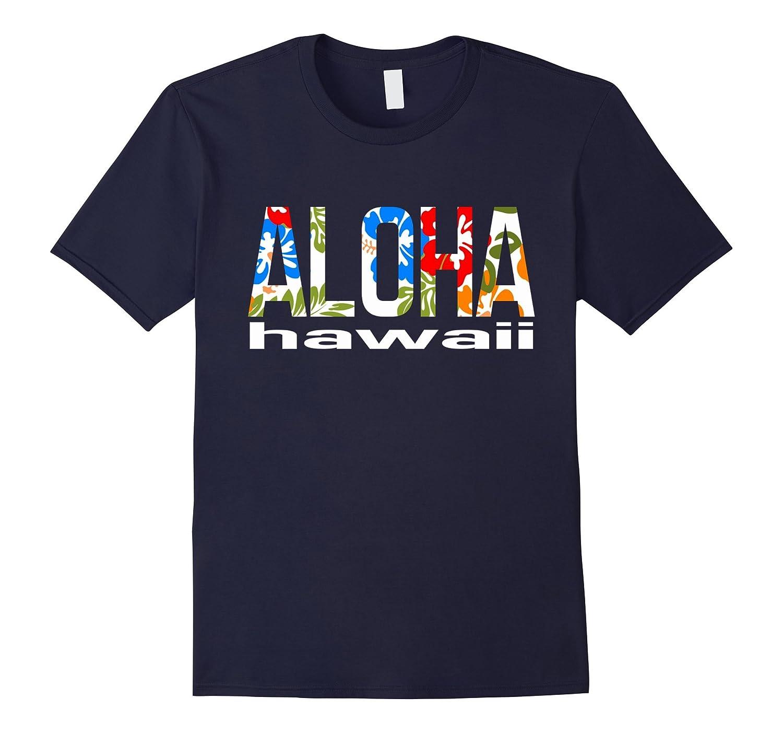 Aloha Hawaiian T-shirt Flowers Hawaii Funny Vacation Surf-PL