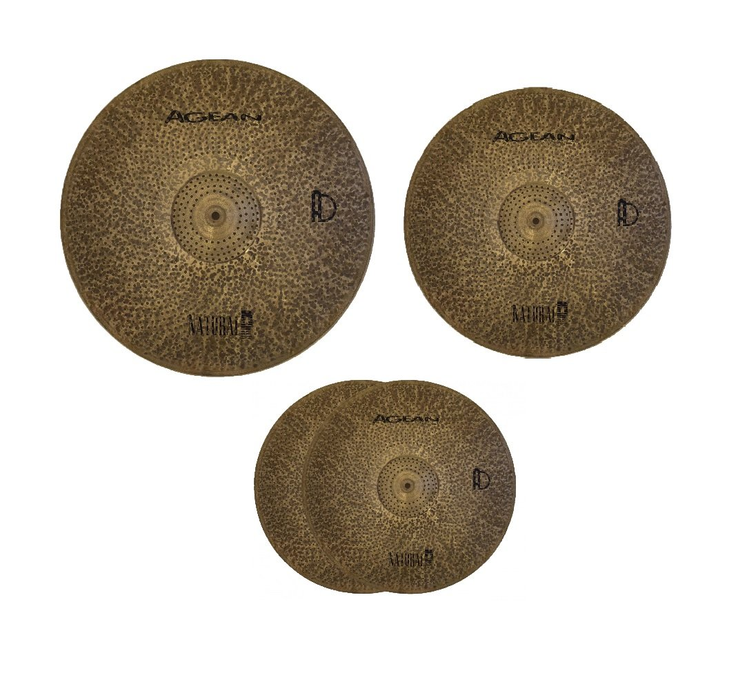 Agean Cymbals Natural R-Series Low Volume Cymbal Pack Box Set   B07D4RBVXQ