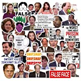 The Office Sticker Pack of 50 Stickers - The Office Stickers for Laptops, The Office Laptop Stickers, Funny Stickers for Laptops, Computers, Hydro Flasks (The Office),The Office