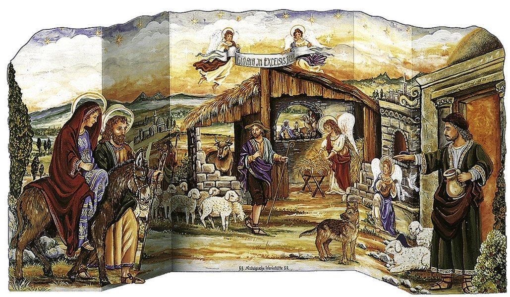 Herbergssuche - Adventskalender aufstellbar