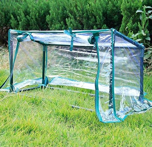 Invernadero Jardín de PVC Invernadero con Estructura de Metal - Transparente (Tamaño: 74 * 29 * 36 cm): Amazon.es: Hogar