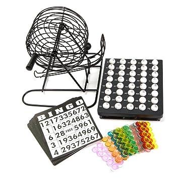 DennyShop Tradicional Bingo Bola Cable Jaula Rueda Lotto Juego Juego y  Tarjeta Marcador boletas Set  Amazon.es  Juguetes y juegos a698821a2305d