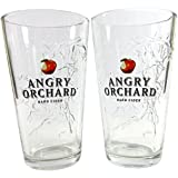 Angry Orchard Hard Cider 3D Angry Trees Pint Glass | Set of 2 Glasses