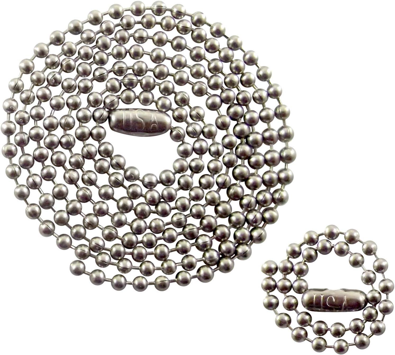 Collar De Acero Inoxidable Etiqueta de perro con cadena de bola de 24 pulgadas 783 de Navidad Cumpleaños