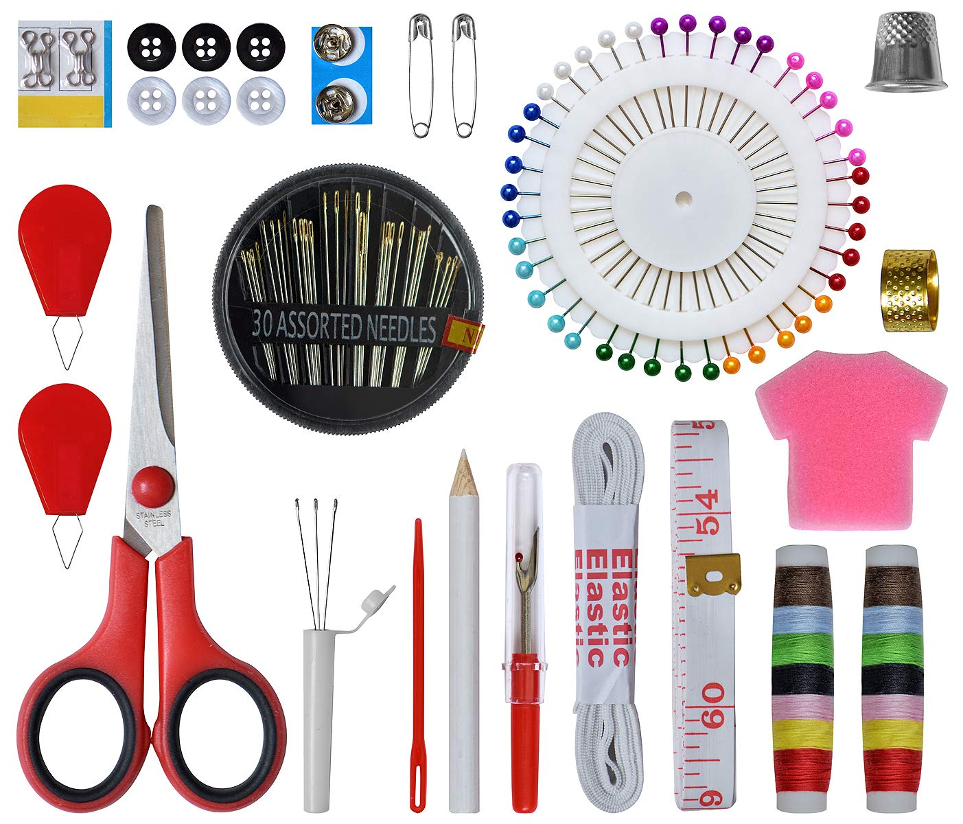 Sewing KIT-Over 206 DIY Premium Sewing Supplies Accessories Portable XXL Sewing Kit 48 Spools of Sewing Thread,Extra Sewing Needles,Tool Kits for Beginner Traveller and Emergency Clothing Fixes