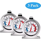 SLKIJDHFB Refrigerator Thermometer Classic Fridge Thermometer Large Dial with Red Indicator Thermometer for Freezer…
