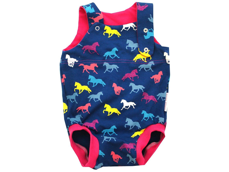 colore: rosa modello cavalli con glitter misure 50-92 Kleine K/önige Tutina estiva per neonato certificata /Ökotex 100