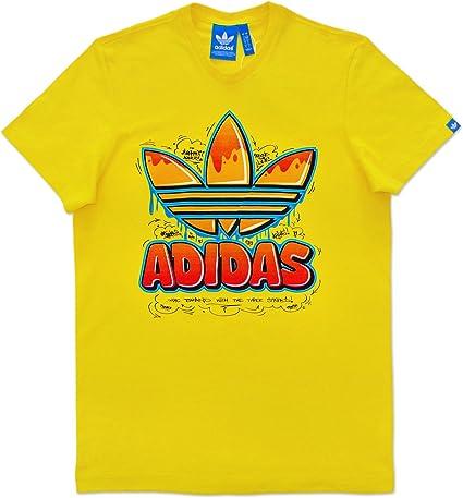 tee shirt adidas jaune