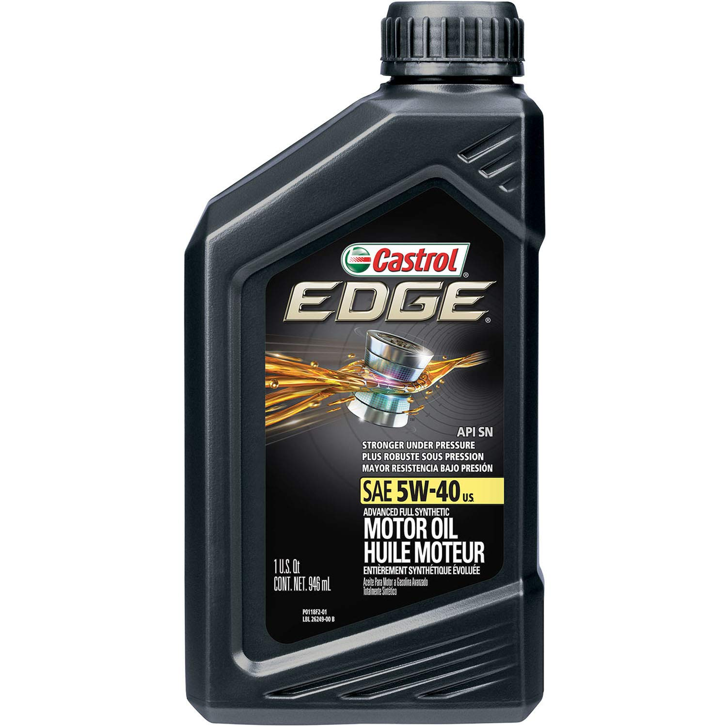 Nye Amazon.com: Castrol 06249 EDGE 5W-40 Advanced Full Synthetic Motor XL-36