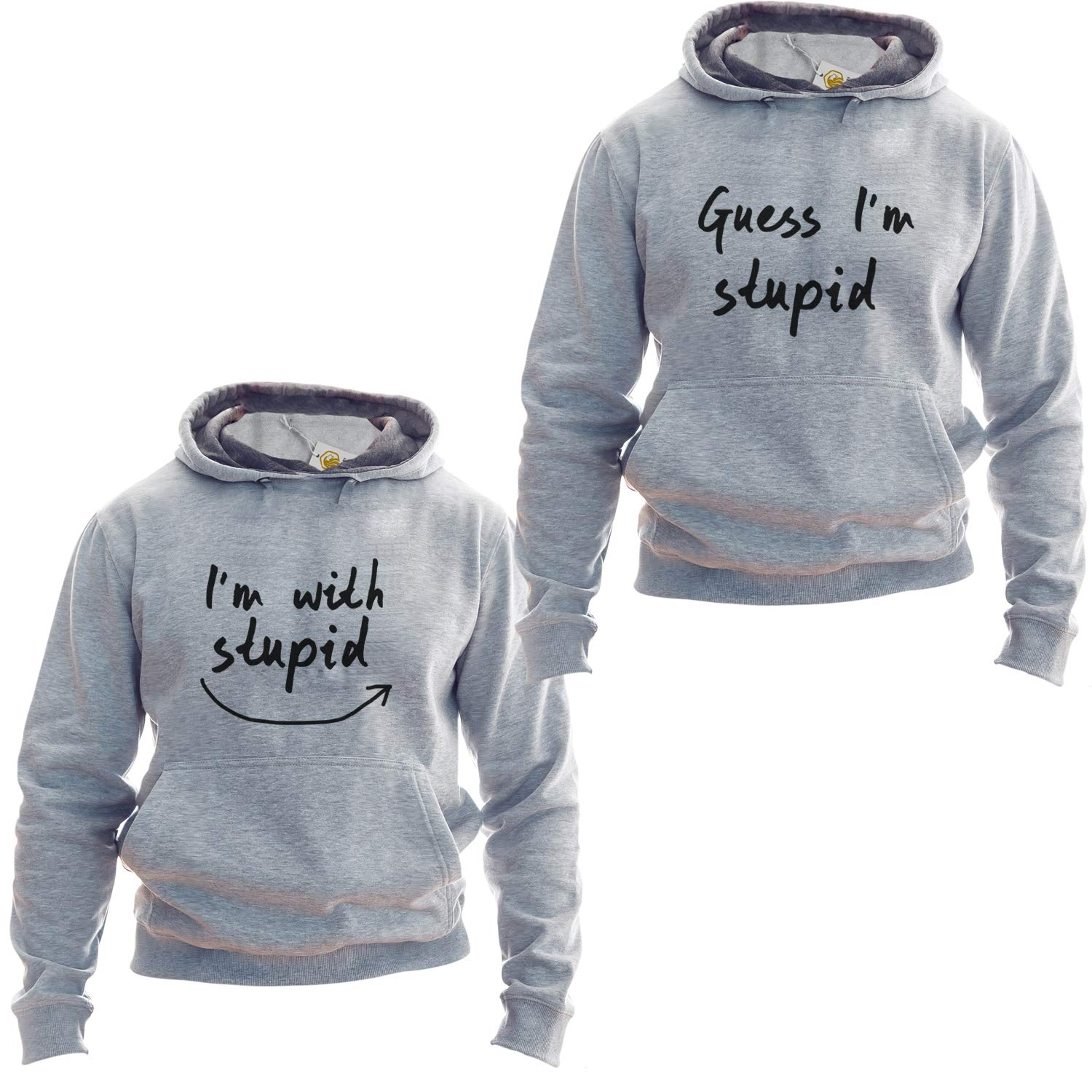 Im with Stupid Pullover Guess Im Stupid Funny Couple Pullover Best Friends Outfit