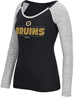Amazon.com   adidas Boston Bruins Women s NHL Puck Drop Dual Blend ... 0ac950aaa