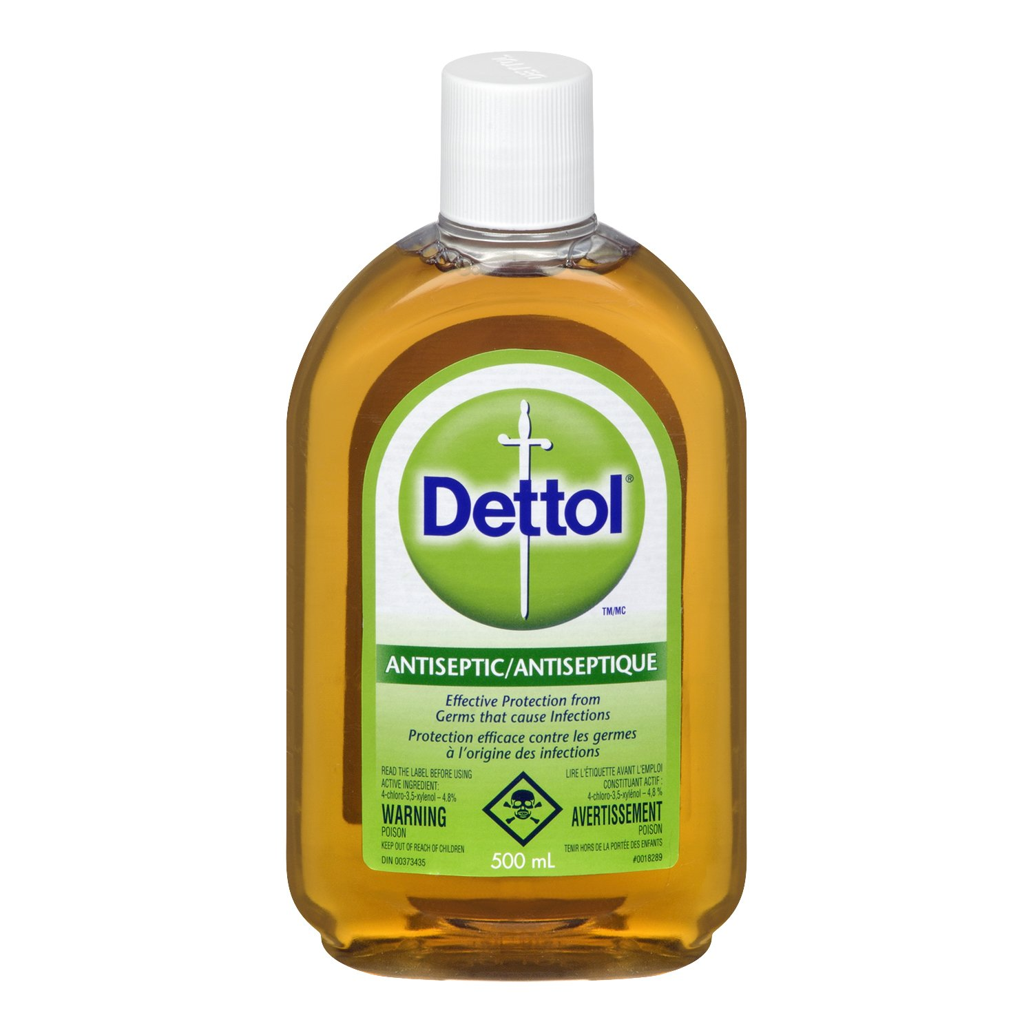 Dettol Antiseptic Infection Causing Germs Protective Liquid 16.90 FL OZ, 500 ML