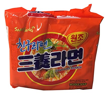 Amazon.com : Samyang Korean Ramen Family Pack (Original, 1 Bundle) : Grocery & Gourmet Food