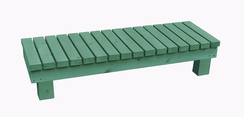 濡れ縁ステップ (踏み台)/板幅65mm 国産杉 間口1190mm×奥行400mm×高さ236mm GG(グレイッシュグリーン)色 B075L5HWV2 GG(グレイッシュグリーン) GG(グレイッシュグリーン)