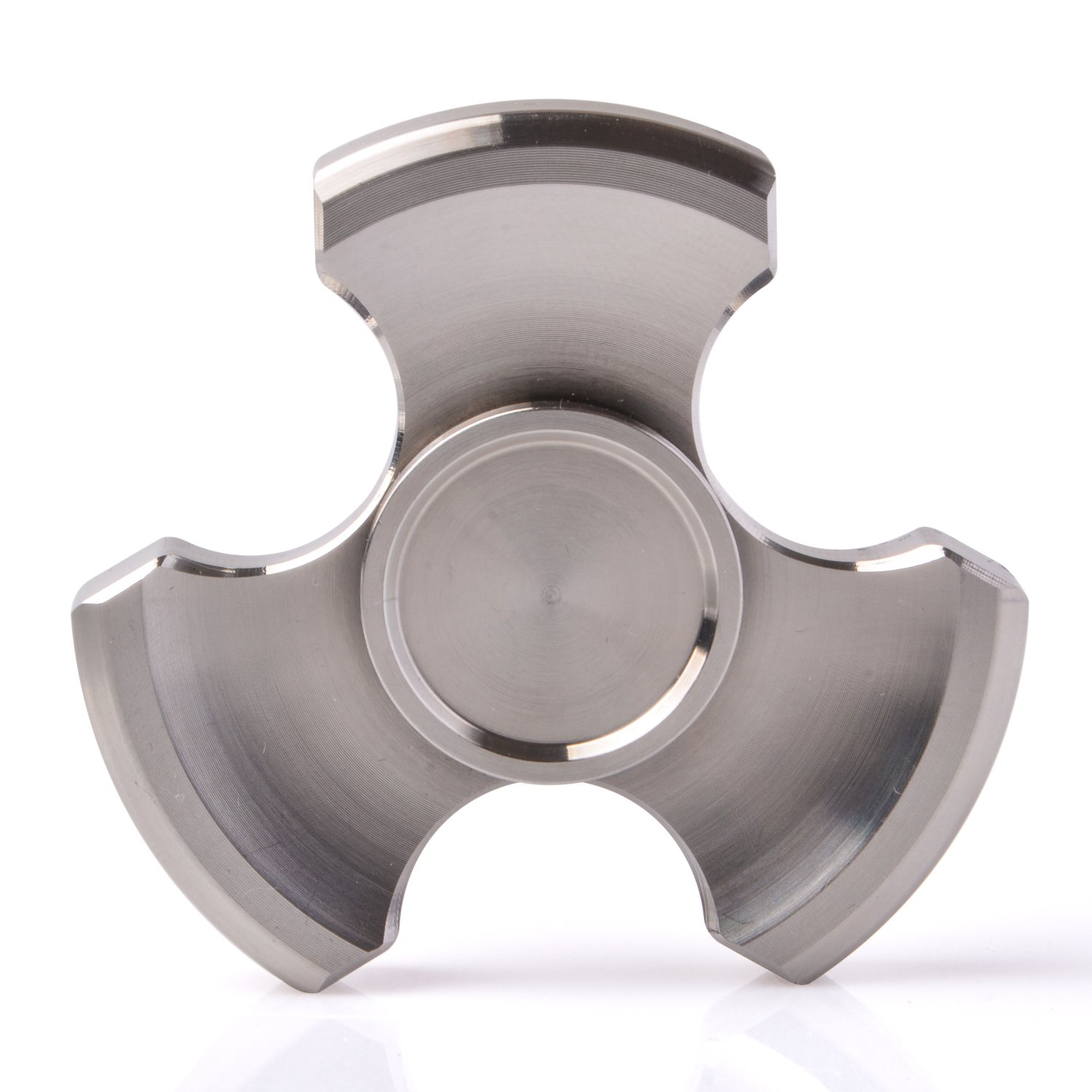 ILoveFidget Fidget Spinner, Best Stainless Steel Hand Spinner EDC Toy, R188 bearing spins up to 8 mins, relieve stress ADHD ADD Austism anxiety boredom, improve focus attention (Tri Bar) by ILoveFidget (Image #1)