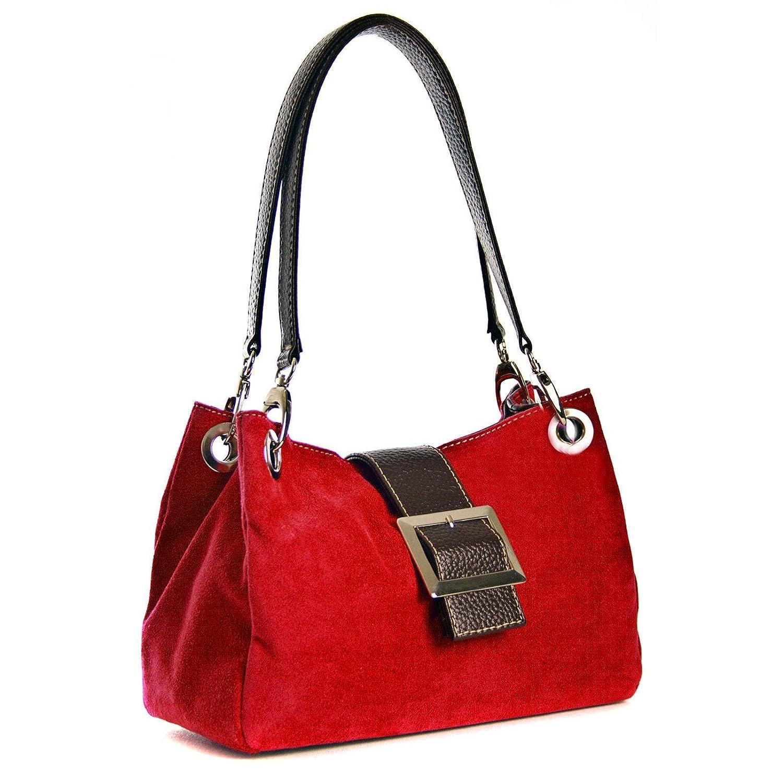 Aossta Real Italian Suede Leather Bag Women Shoulder Handbags