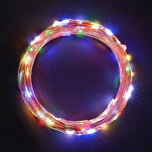 25 opinioni per Sunix® Catene Luminose LED 11M 110 LED colorati Stringa LED con Adattatore di