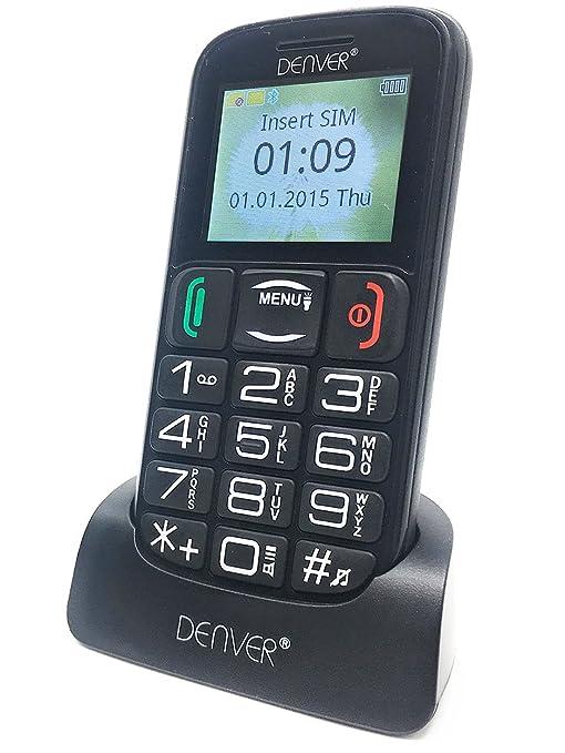 55a2e5fcf46 Denver GSP-110 Big Button Mobile Phone For Elderly - Unlocked Senior Mobile  Phone