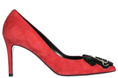 MOA Master of Arts Damenschuhe Wildleder Pumps mit Absatz High Heels Rot