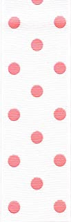 product image for Offray, Pink Rev Dot Grosgrain Craft Ribbon, 1 1/2-Inch x 9-Feet