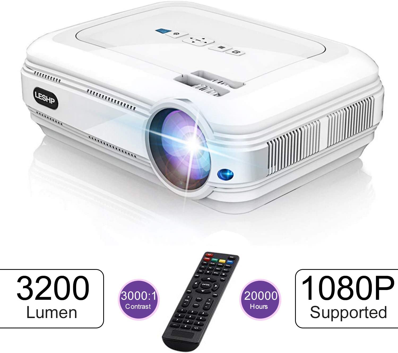 LESHP Proyector LCD 3200 Lúmenes HD 20000 Horas Manual en Español ...