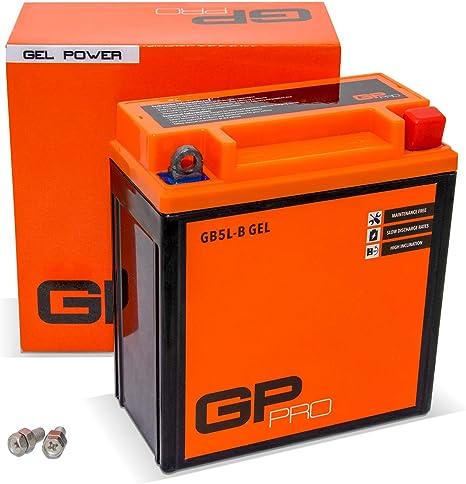 similar to YB5L-B // YT5L-BS Maintenance-free//Sealed Scooter Accumulator GP-PRO GB5L-B 12V 5Ah GEL Starter Battery
