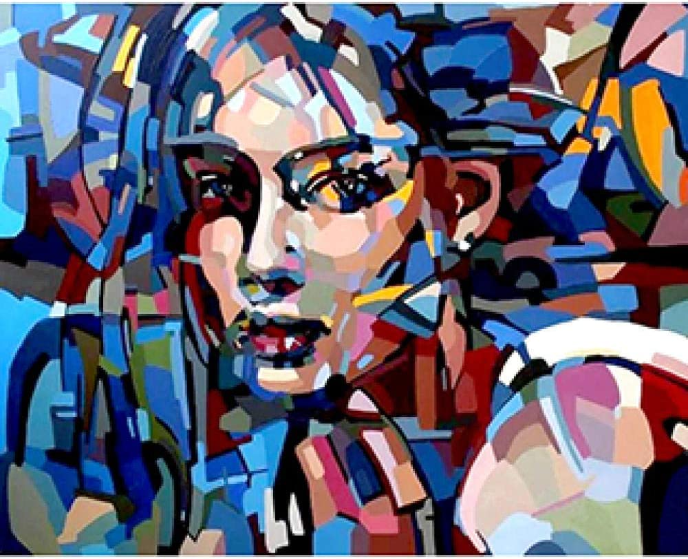 Amazon Com Wanghan Painting By Number Diy Digital Painting Color Block Character Portrait Body Art Romance Love Number Coloring Oil Painting Living Room Arts Crafts Sewing