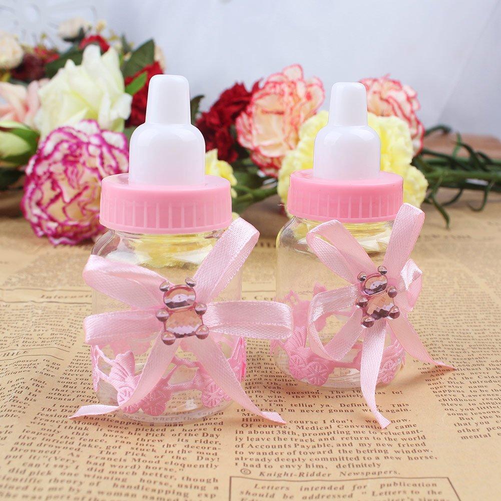 aerwo recuerdo de la fiesta de bebé ducha favor caja rellenables botella Mini Candy caja de regalo para Boy niña recién nacido bautismo bautizo fiesta de ...