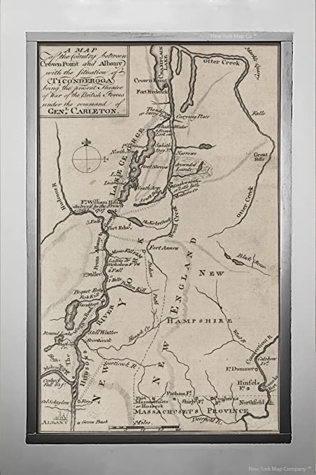 New York Map 1800.Amazon Com 1770 1800 Map York N Y A Map The Country Between Crown