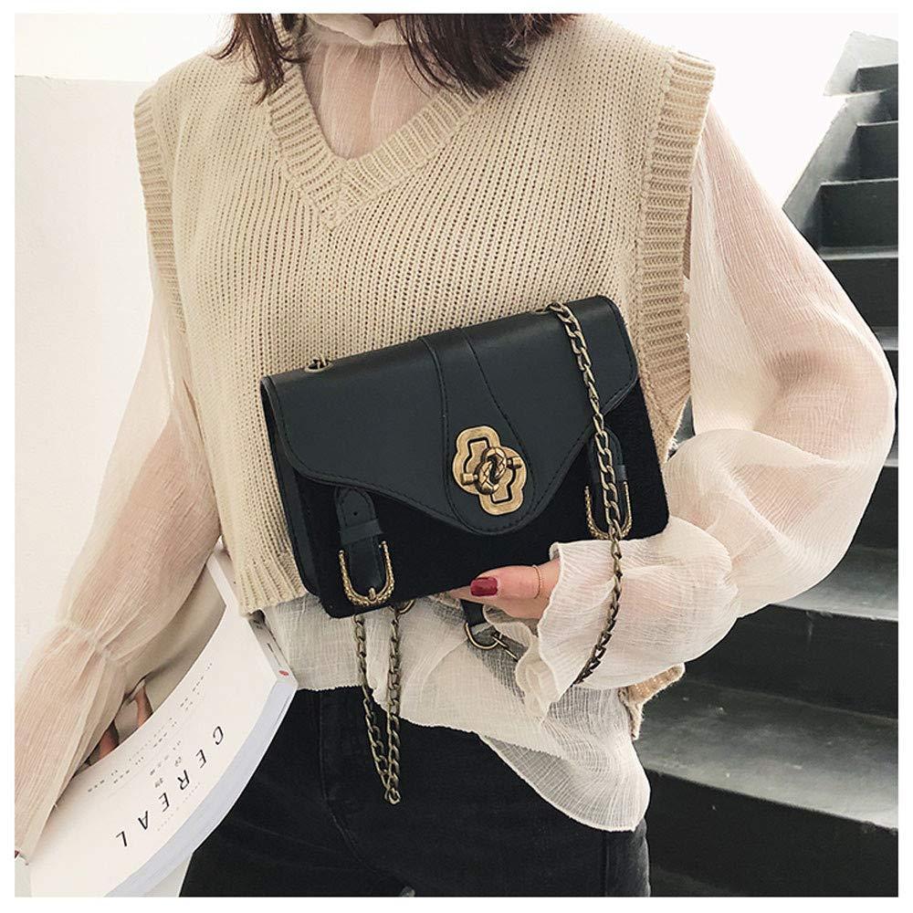Shoulder Bag JIUDASG Woman Panelled Leopard Button Simple Design Messenger Bags