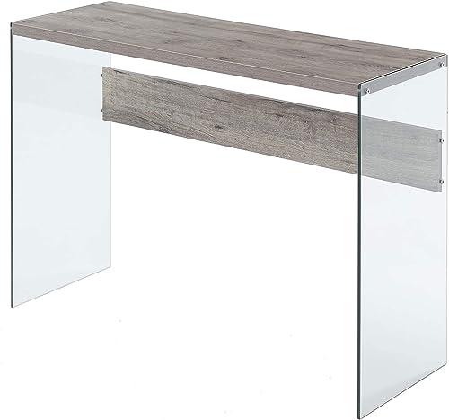 Convenience Concepts 131562W Console Table, Sandstone Glass
