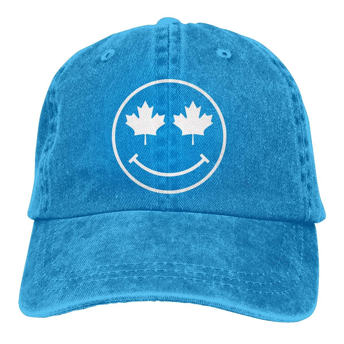 PMGM-C Canadian Smiley Unisex Personalize Jeans Casquette Adjustable Baseball Cap